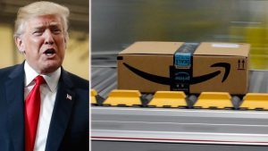 Donald Trump attacks again Amazon's scamming US postal service over shipping costs